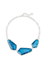Kendra Scott Violet Statement Necklace Silver Peacock Illusion