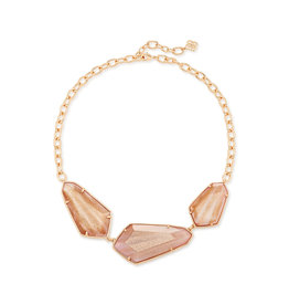 Kendra Scott Violet Statement Necklace Rose Gold Dusted Pink