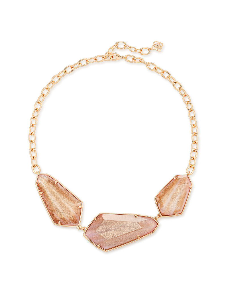 Kendra Scott Violet Statement Necklace Rose Gold Dusted Pink