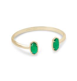 Kendra Scott Elton Bracelet Gold Jade Illusion