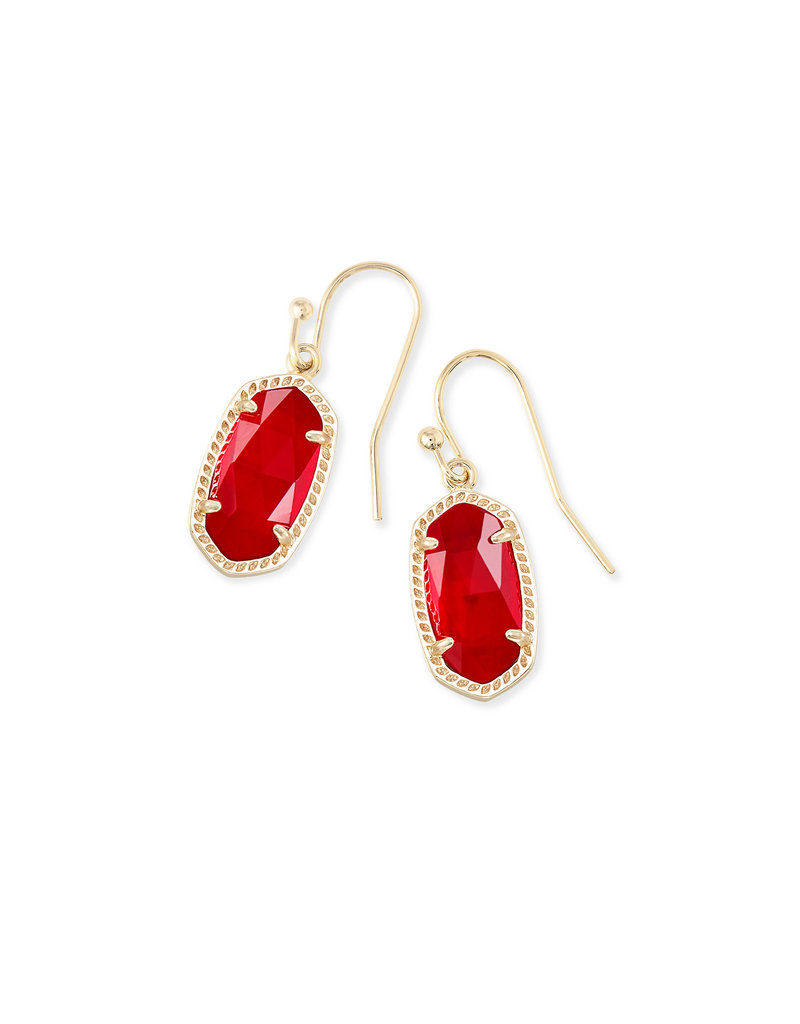 Kendra Scott Lee Earrings Gold Cherry Illusion