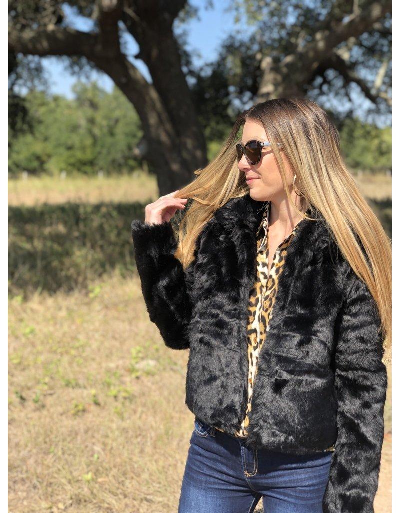 Black Fur Jacket