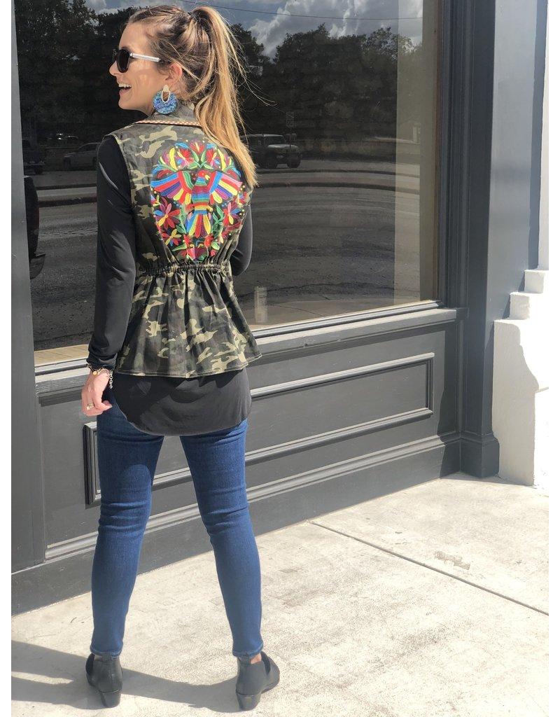 Camo Embroidered Vest