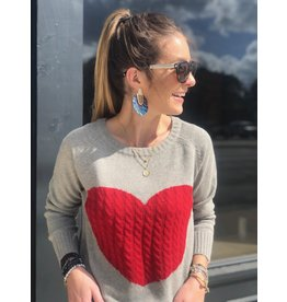 Big Red Heart Sweater