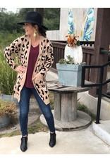 Taupe Leopard Cardigan