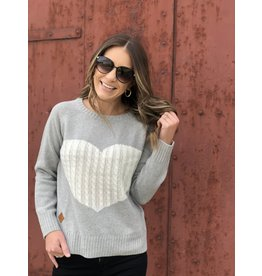 Grey Sweater w/ White Heart
