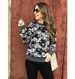 Simply Southern SS Grey Camo Sweater