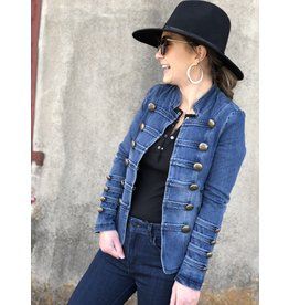 Denim Jacket With Double Button Detail