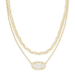Kendra Scott Elisa Multi Strand Gold Iridescent Drusy