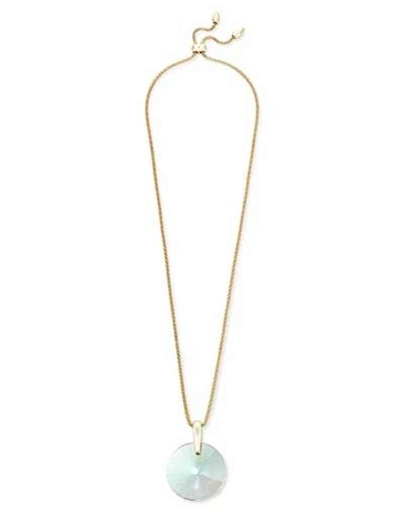 Kendra Scott Jolie Long Pendant Necklace Dichroic Glass on Gold