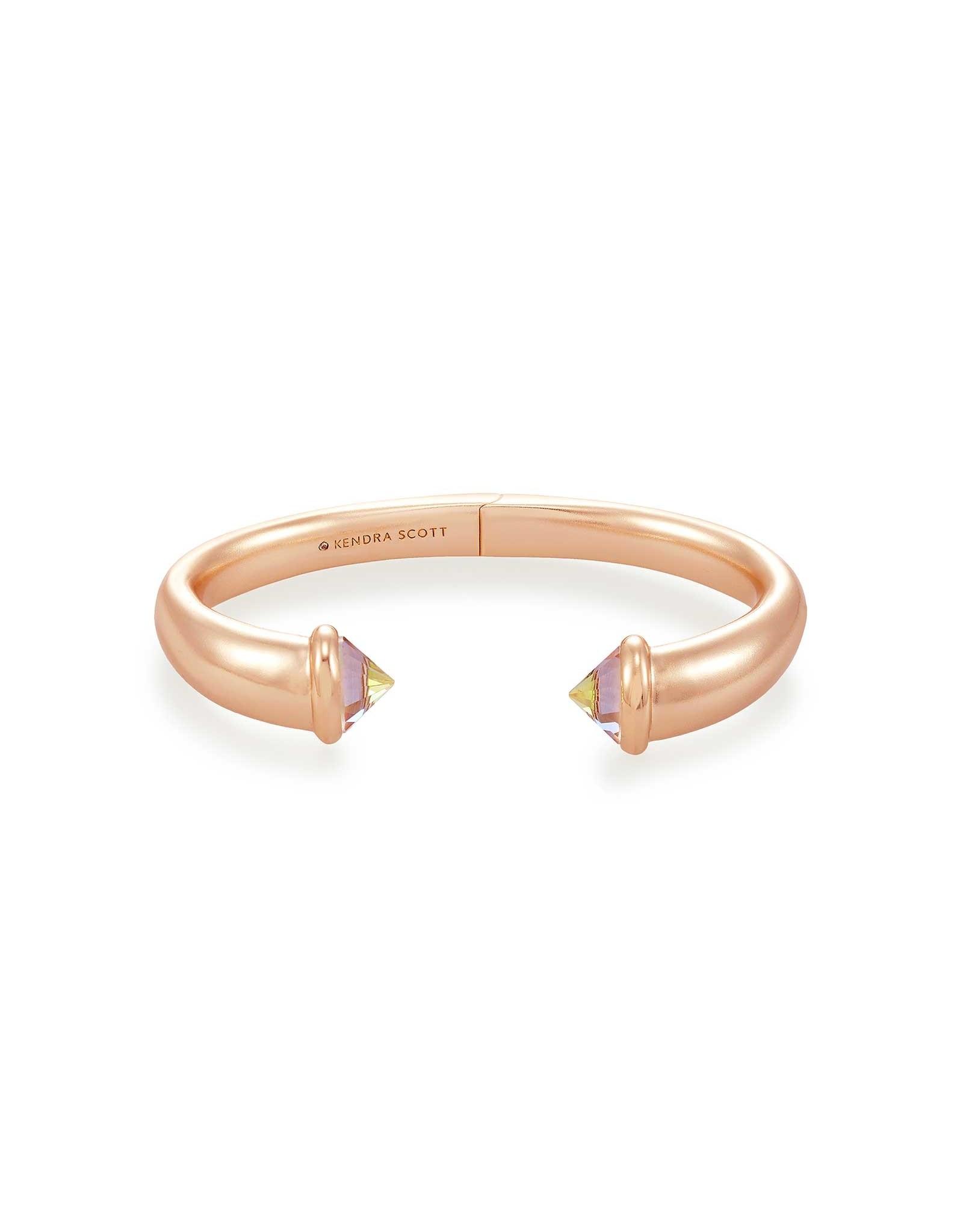 Kendra Scott Jolie Rose Gold Cuff Bracelet Dichroic Glass