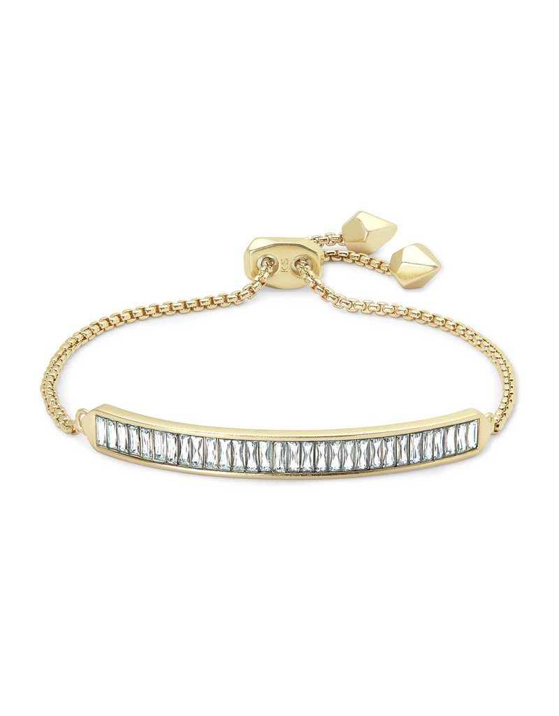 Kendra Scott Jack Delicate Chain Bracelet Clear Crystal on Gold