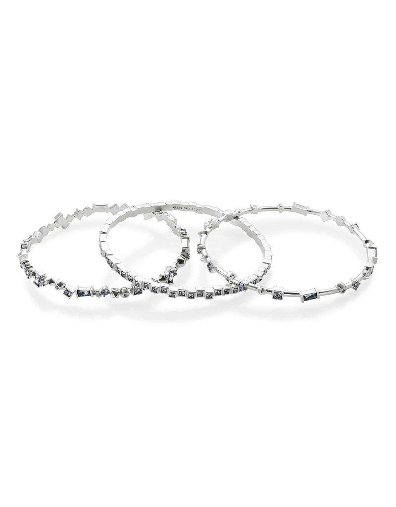 Kendra Scott Malia Bracelet Gray Crystal on Silver