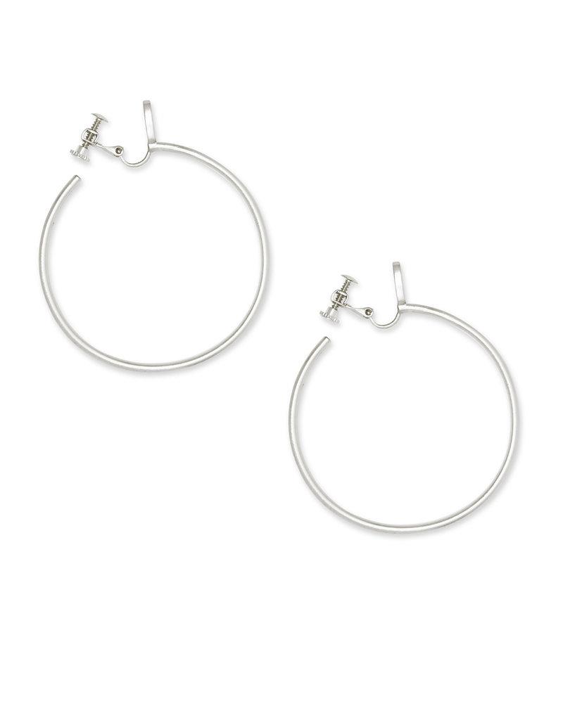 Kendra Scott Pepper Clip On Earrings in Silver