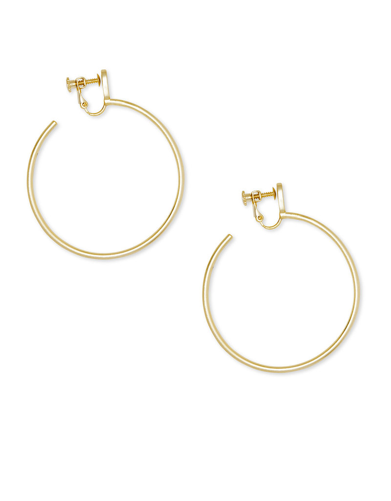 Kendra Scott Pepper Clip On Earrings in Gold
