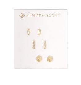 Kendra Scott Austin Stud Earrings in Gold - set of 3