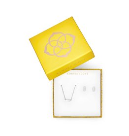 Kendra Scott Gift Set Fern & Barrett Silver Metal