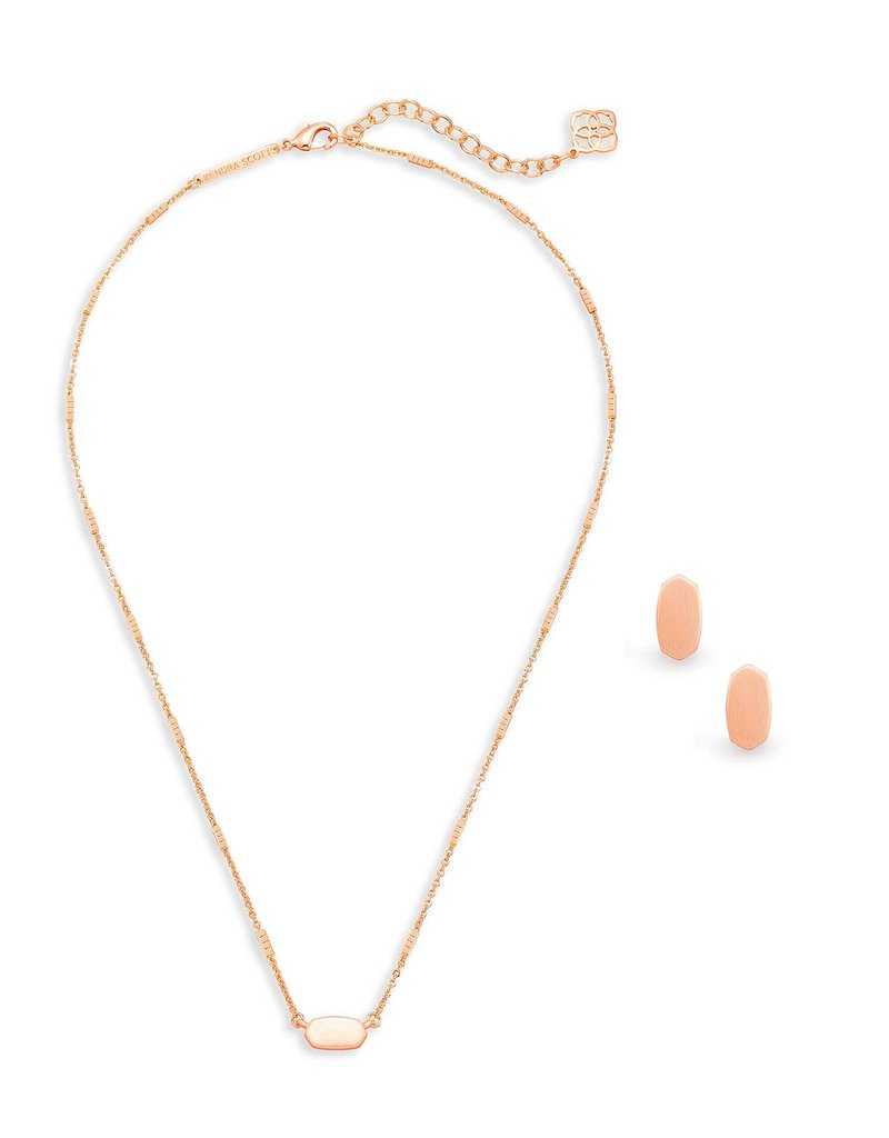 Kendra Scott Gift Set Fern & Barrett Rose Gold Metal