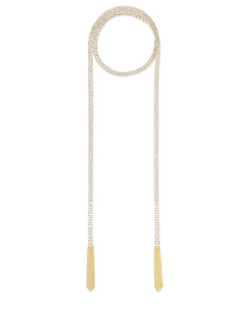 Kendra Scott Vienna Lariat Long Necklace in Gold