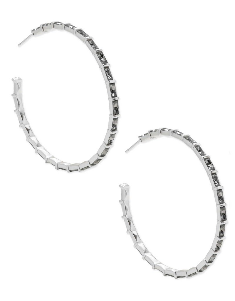 Kendra Scott Thora Earring Gray Crystal on Silver