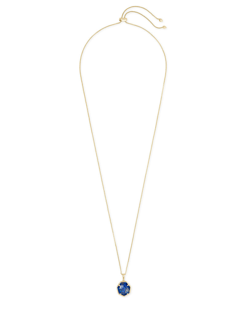 Kendra Scott Cynthia Small Long Pendant in Blue Lapis on Gold