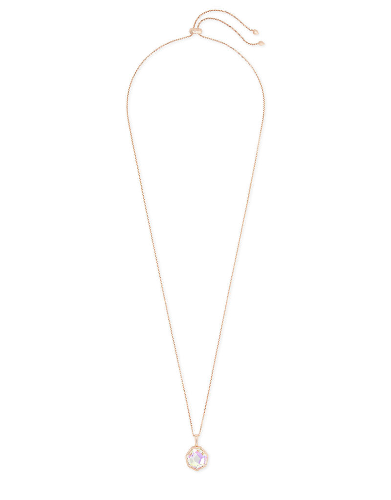 Kendra Scott Cynthia Rose Gold Necklace in Dichroic Glass