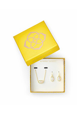 Kendra Scott Gift Set Lee & Elisa Gold Dichroic Glass