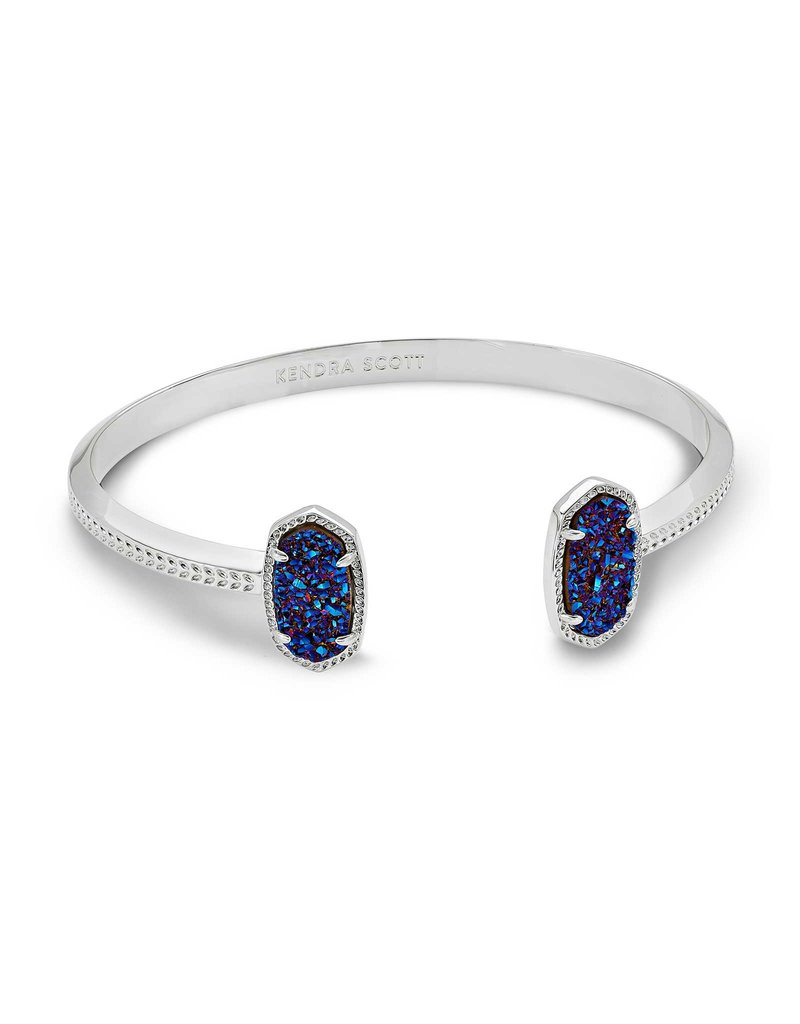 Kendra Scott Elton Bracelet Indigo Blue Drusy on Silver