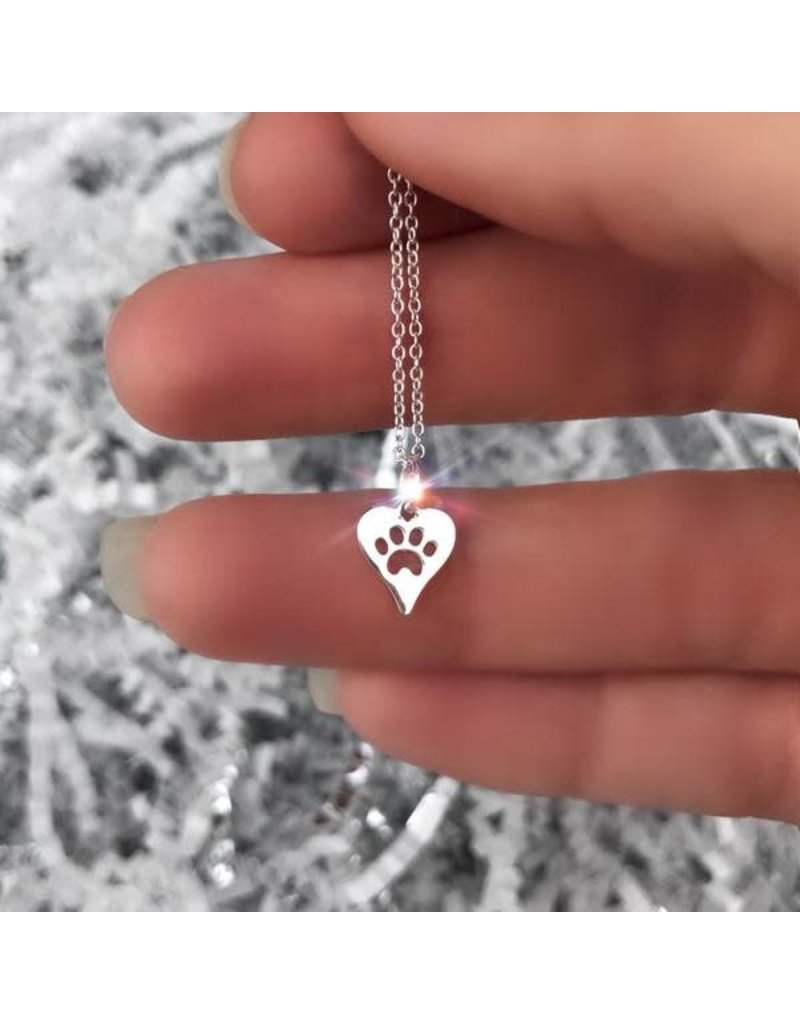 SHINElife silver pet love necklace