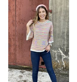 Multi Short Sleeve Sweater