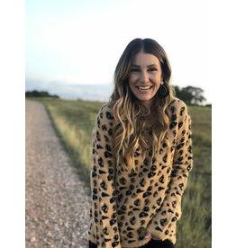 Golden Cheetah Print Sweater