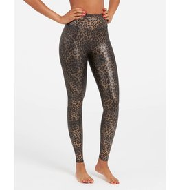 Spanx Metallic Leopard Faux Leather Legging
