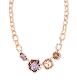 Kendra Scott Natalia Statement Necklace Peach Mix in Rose Gold