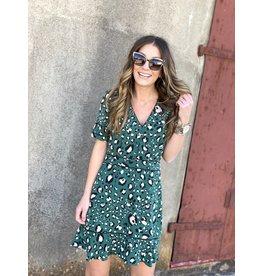 Ivy Green Leopard Print Dress