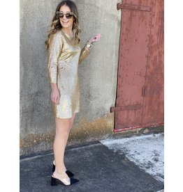 Matte Gold Sequin Dress