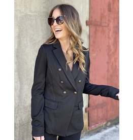 Black Blazer with Button Detail