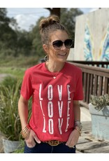 Red LOVE LOVE LOVE Tee