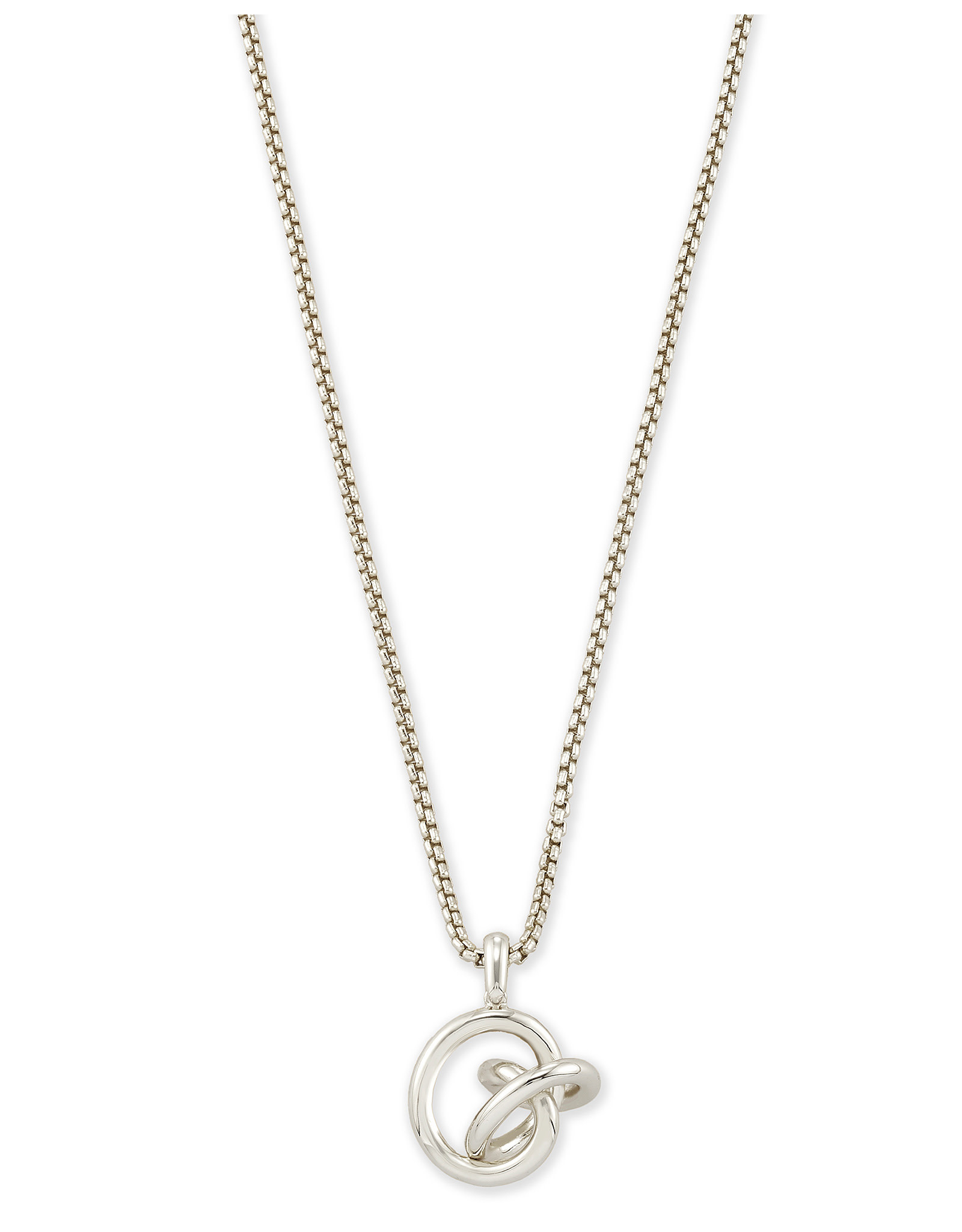 Kendra Scott Presleigh SM Long Pendant in Silver