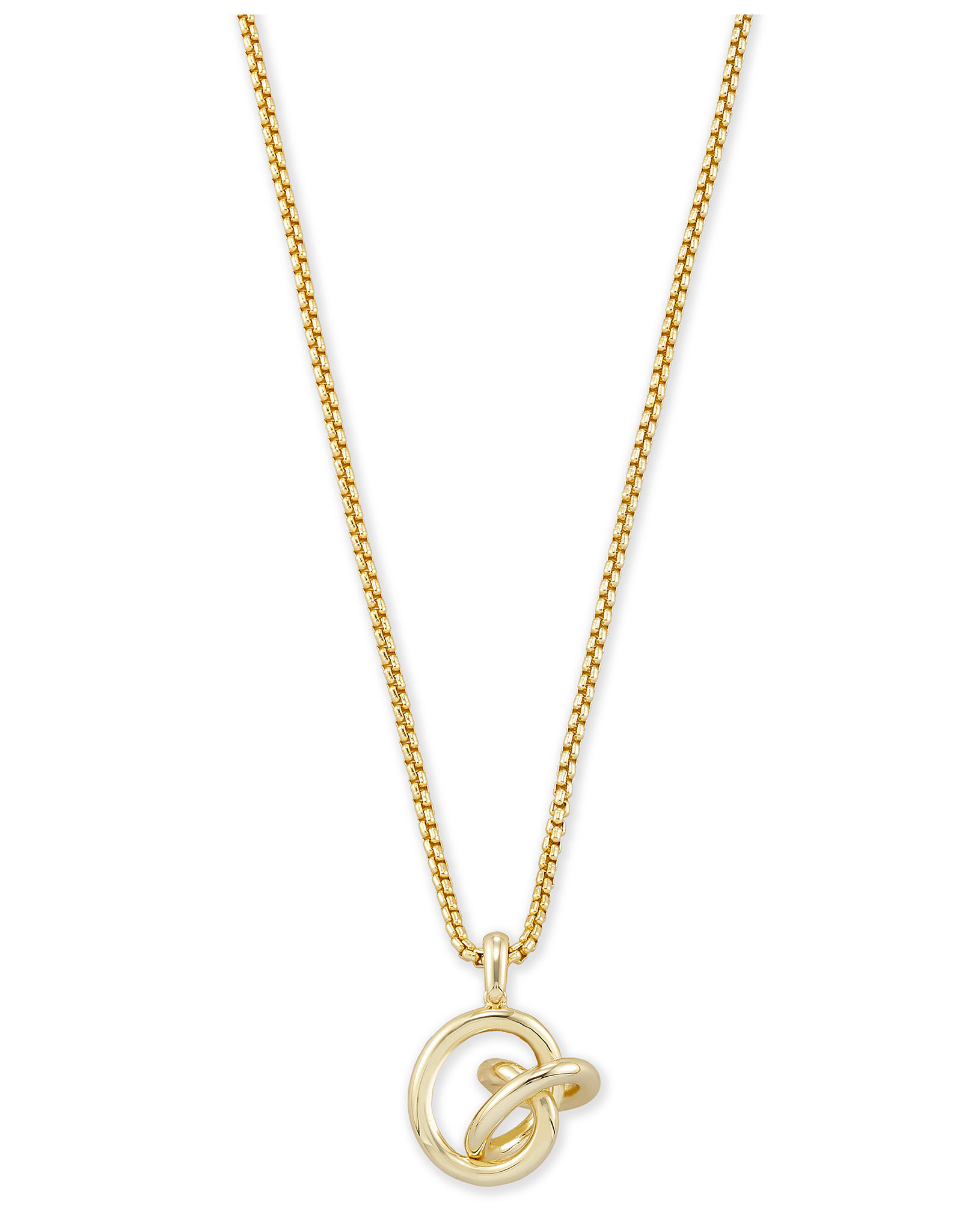 Kendra Scott Presleigh SM Long Pendant in Gold