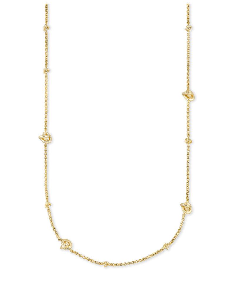 Kendra Scott Presleigh Short Strand Necklace in Gold