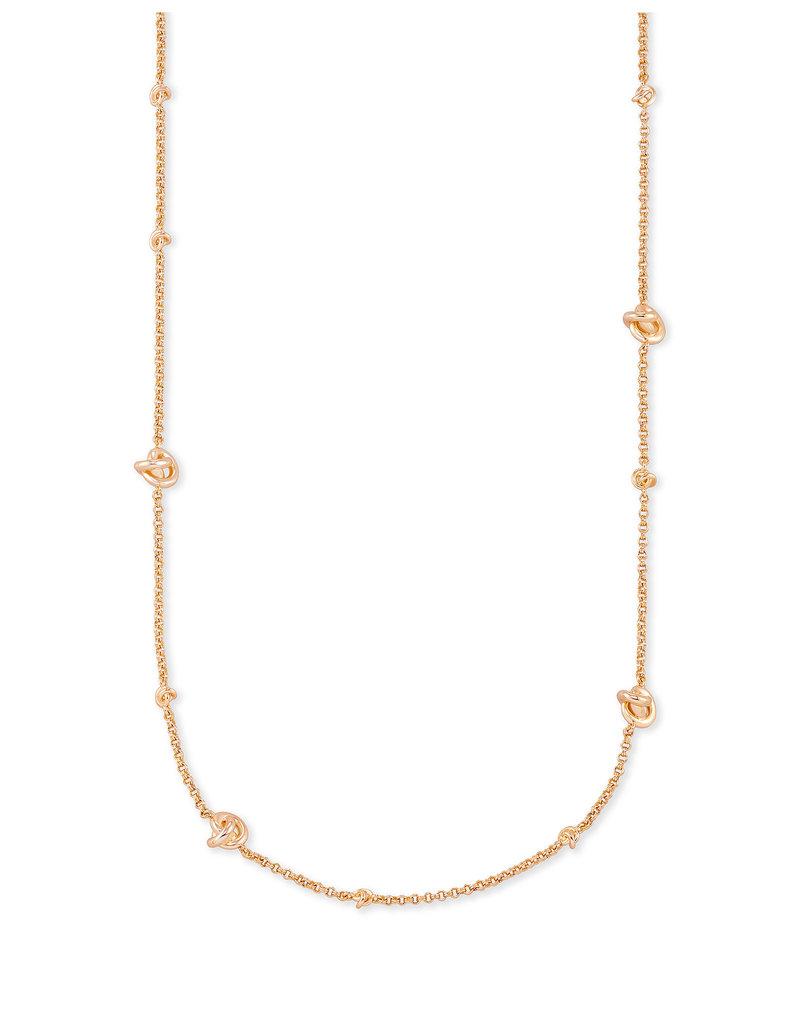 Kendra Scott Presleigh Short Strand Necklace in Rose Gold