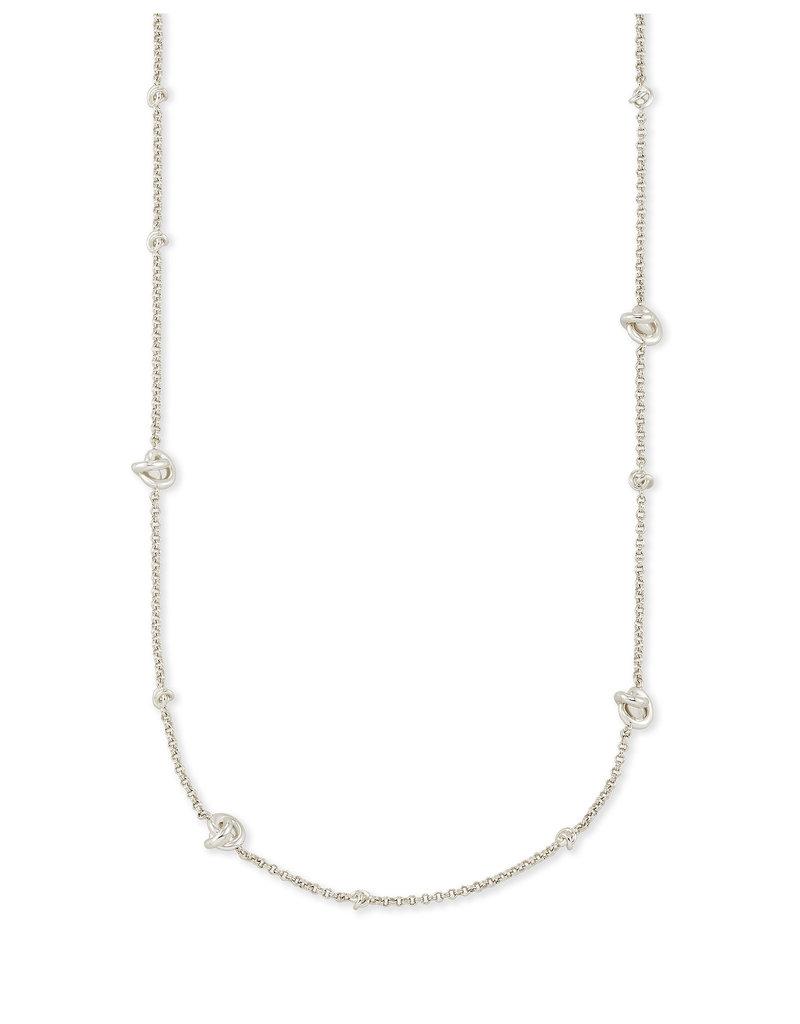 Kendra Scott Presleigh Short Strand Necklace in Silver