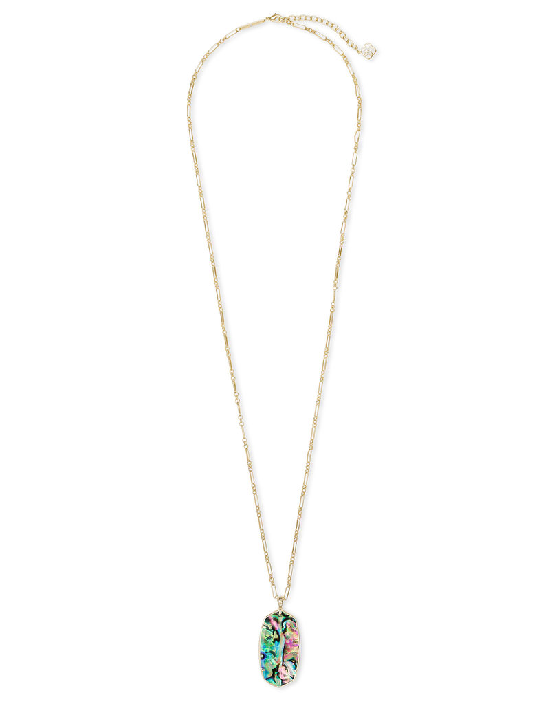 Kendra Scott Faceted Reid Necklace in Abalone on Gold