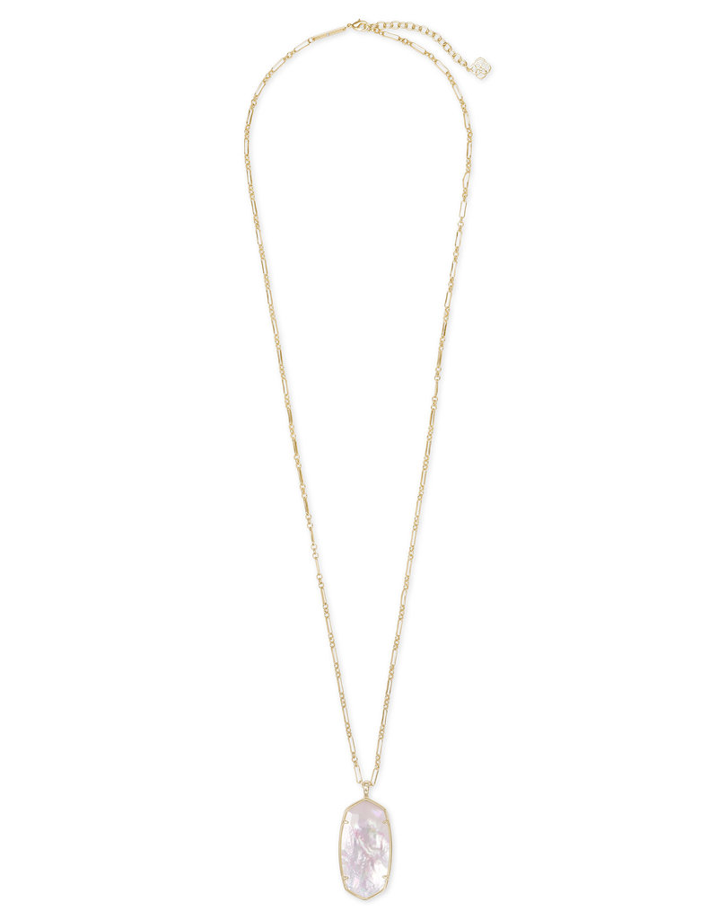 Kendra Scott Faceted Reid Necklace in Ivory MOP on Gold