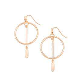 Kendra Scott Nalani Open Frame Earring in Rose Gold