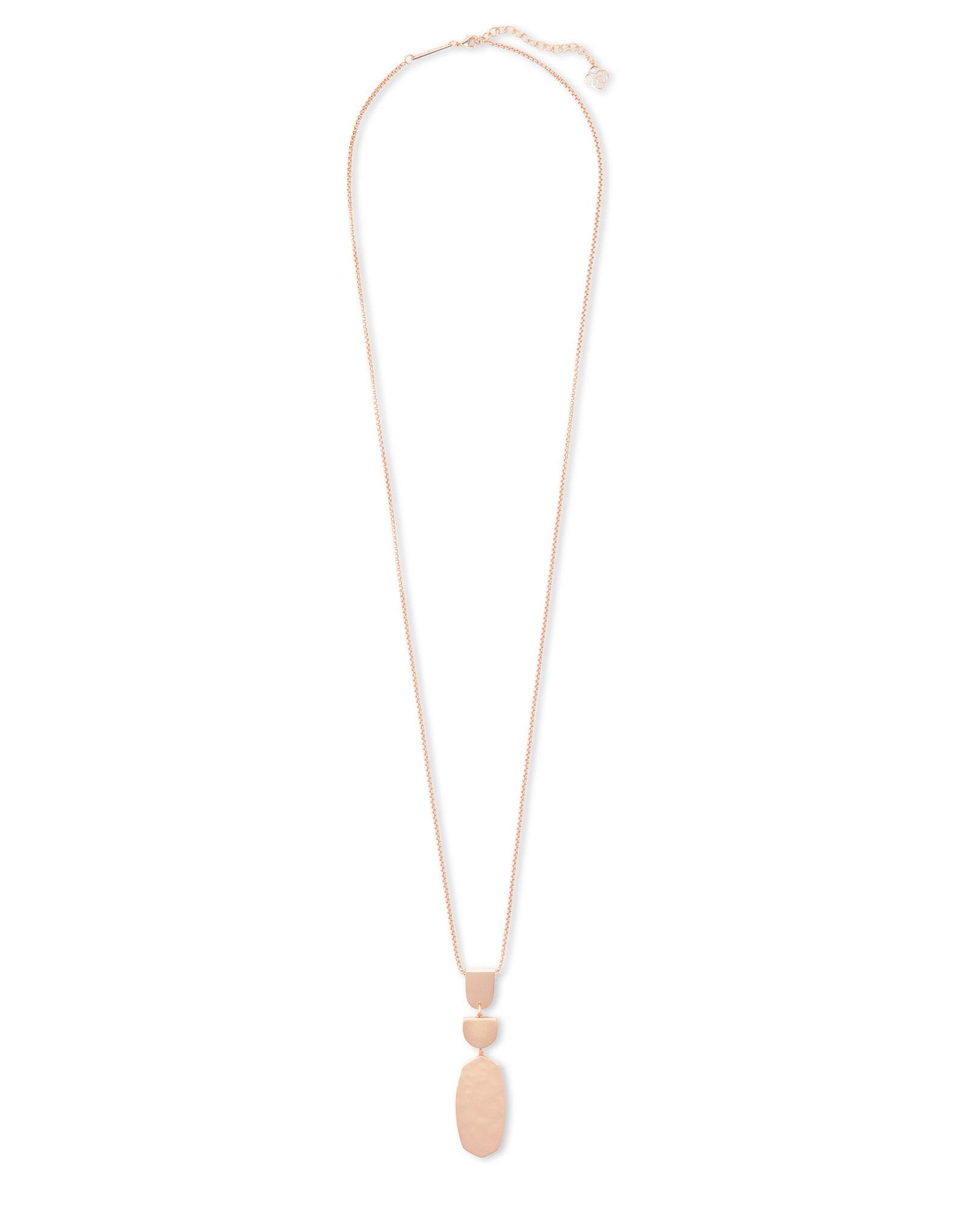 Kendra Scott Noah Long Pendant Necklace in Rose Gold