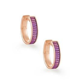 Kendra Scott Jack Hoop Earring Pink Crystal on Rose Gold