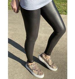 Faux Leather Jillian Black Leggings
