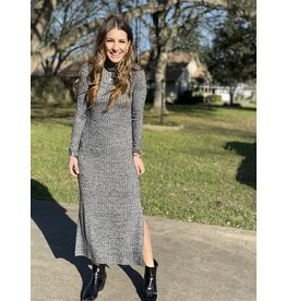 Grey Midi L/Sleeve Dress
