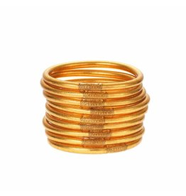 BuDhaGirl Gold All Weather Bangles- Large